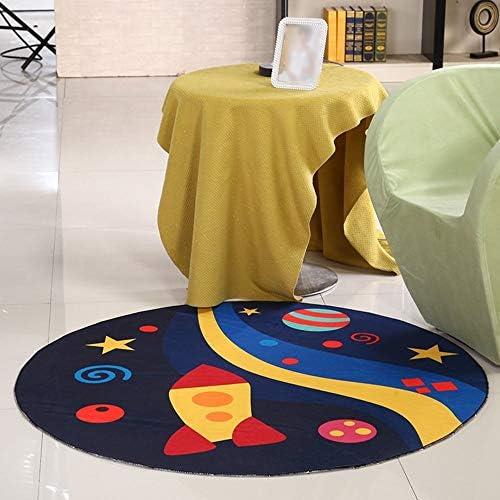 Cartoon Kinder runde Matten, Computer-Drehkissen, Korbaufzugskissen, Schlafzimmerbett rutschfeste waschbare Matten (Farbe  Dunkelblau, Größe  160 cm)