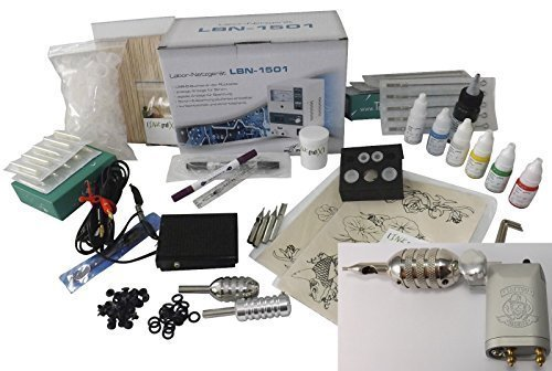 TATTOO ROTARY KOMPLETTSET START S-H2- INKgrafiX® Deutschland - SET vom PROFI - ROTARY IG-7g - STUDIO IG04925