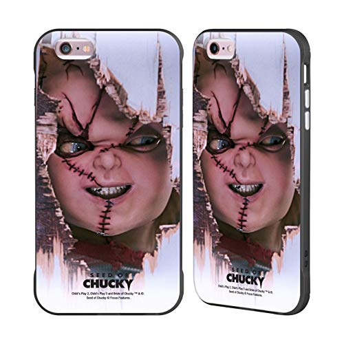 Head Case Designs Ufficiale Seed of Chucky Scarface Arte Chiave Cover Fender Nera Compatibile con Apple iPhone 6 Plus/iPhone 6s Plus