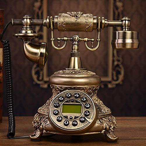 HYY-YY Antiguo teléfono europeo antiguo teléfono de madera maciza Conexión fija Teléfono privado creativo Classic-A