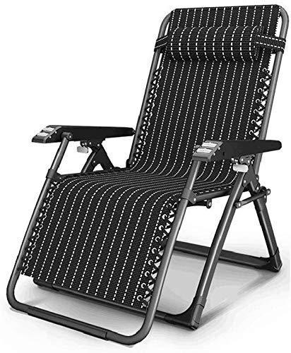 Home Equipment Silla perezosa para la siesta de interior con reposabrazos de masaje Sillas de jardín Sillones reclinables Sillón reclinable plegable Zero Gravity 0 grados;166 grados; Ajuste (Color