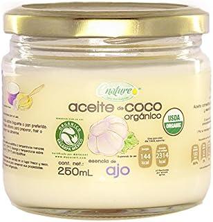 Enature Aceite de Coco Orgánico con Esencia de Ajo, 250 ml