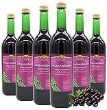 BLEICHHOF [6er Pack] Schwarzer Johannisbeersaft - 100% leckerer Direktsaft - Frische Früchte - ohne Zuckerzusatz und Zusatzstoffe - Nachhaltig hergestellt im Familienbetrieb
