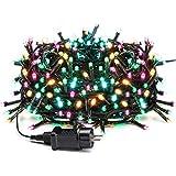 Avoalre 20M 200leds bunte Lichterkette Außen, IP44 Wasserdicht Weihnachtsbeleuchtung mit EU Stecker, 8 Modi Party Lichterkette Aussen für Tannenbaum, Hochzeit, Weihnachten,Garten, Ostern