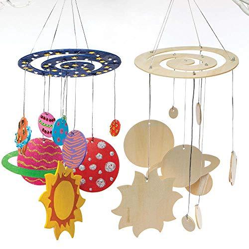 Baker Ross Kit composizione mobile con sistema solare (confezione da 2) per creazioni fai da te e decorazioni per bambini