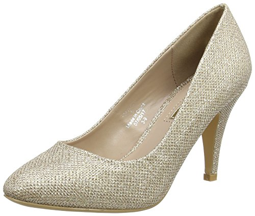 Dorothy Perkins Claudia, Escarpins femme, or, 42 (Taille fabricant: 8)