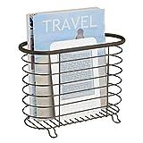 STOCKAGE : Économisez de l'espace et créez un espace rangement dans votre salle de bains. Le range revue design est adapté non seulement pour le rangement des journaux, mais aussi des livres ou tablettes dans la salle de bain. DESIGN CHIC : Le porte ...