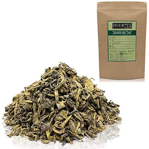 Origin Ceylon Tea 250g (375 Tassen) Bester Grüner Tee (OPA) direkt von der Plantage aus Sri Lanka