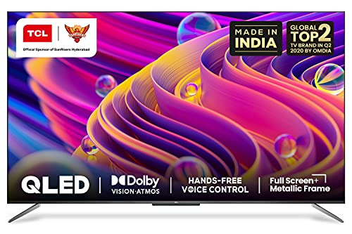 TCL 138.7 cm (55 inches) 4K Ultra HD Certified Android Smart QLED TV 55C715 (Metallic Black) (2020 Model) | With Remote Less Voice Control