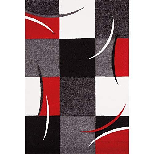 Merinos - 665 110 - Tapis Diamond Rouge - 160x230 cm