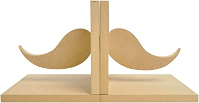 Kaisercraft SB2183 Beyond The Page MDF Moustache Bookend, 5.5 by 5.5 by 5-Inch, 2-Pack