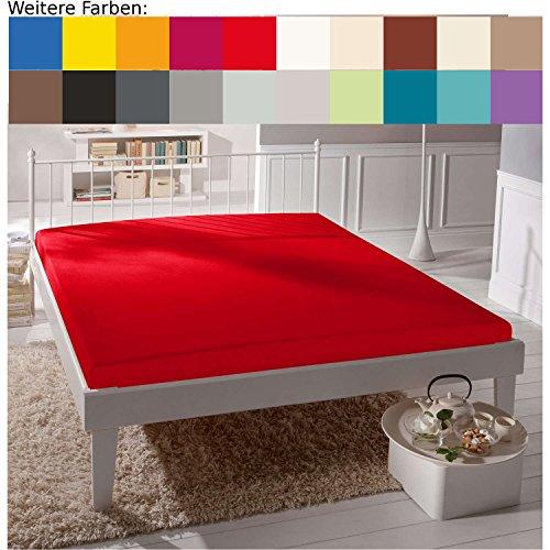 Joop! Spannbettlaken Jersey rot Größe 180x200 cm - 200x220 cm