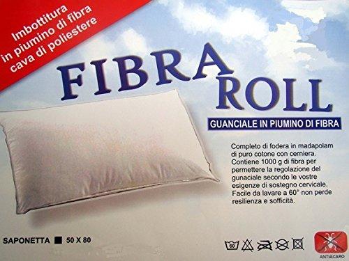 Ergorelax Guanciale Fibra Roll in Piumino di Fibra