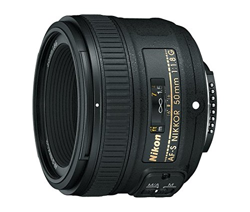 Nikon AF-S 50mm F1.8 G - Objetivo para Nikon (distancia focal fija 50mm, apertura f/1.8) color...