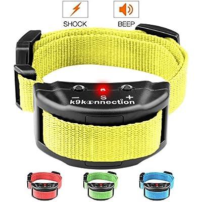 K9konnection® Anti Bark Dog Shock Collar with 7 Adjustable Sensitivity Levels for Small, Medium, Large Dogs - Effective Bark Solution - No Harm Warning Beep - Electric Training Device - Bonus Guide