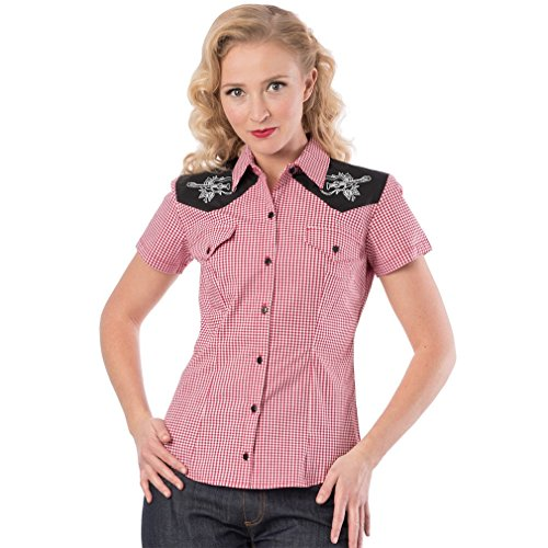 Steady Clothing Western blouse - Rockabilly Rose Red