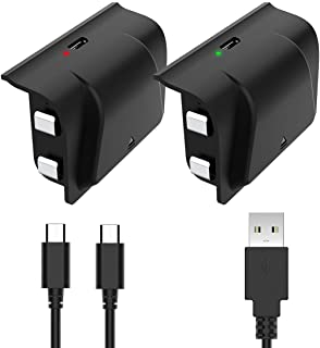 YCCSKY Xbox One Rechargeable Battery Pack 1200mah Xbox Play and Charge Kit with LED Indicator Light for Xbox One S/X/Elite Controller