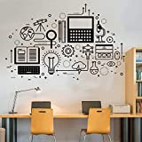 wukongsun Apliques de Pared de tecnología informática, Etiqueta de Vinilo,...