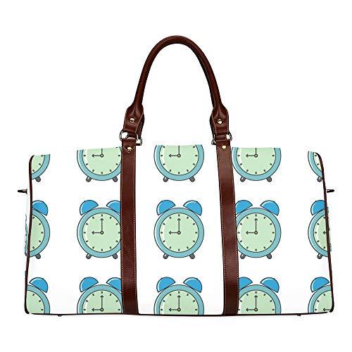 Tote Bag For Men Compact Alarm Clock Weak Up Tool Waterproof Microfiber Leather Carryon Bag Best Travel Toiletry Bag Mens Travel Tote Bag Teen Girl Duffel Bag Bags Totes