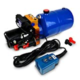 TEMCo HP0011 12V DC Hydraulic Power Unit/Dump Trailer Pump 6 Qt Power up/Power Down (Double Acting)
