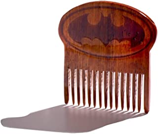 Batman Logo Beard Comb, Mens Wooden Facial Hair Brush - Beard Gains