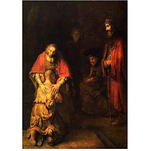 linshel Rembrandt: Die Rückkehr des verlorenen Sohnes Poster Dekorative Malerei-50x70cm Kein Rahmen