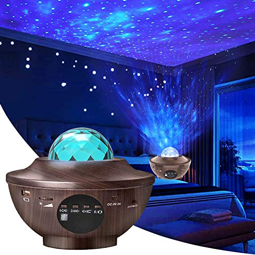 Aisuo Night Light, Star Projector with Bluetooth 5.0 HiFi Speaker, 21 Lighting Modes Bedside Lamp, Adjustable Lightness & Remote Control, Ideal Gift Ideas, Friends, Music Player, Decor.