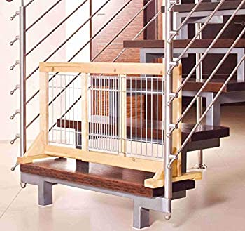 Trixie Barrière Bouleau 63-108 × 50 × 31 cm pour Chiots et Petits Chiens
