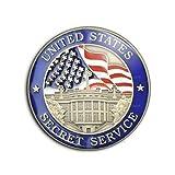 Photo de Badge 25mm USA Service Secret United States Secret Service Maison Blanche Pins Bouton Epinglette par