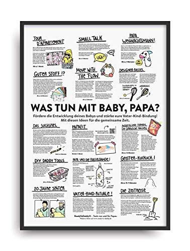 Poster fürs Kinderzimmer: Papa und Baby allein zu Haus?! Geschenk für werdende Väter zur Erstausstattung