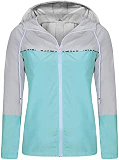 Women's Waterproof Raincoats Packable Lightweight Windbreaker Active Outdoor Hooded Rain Jacket