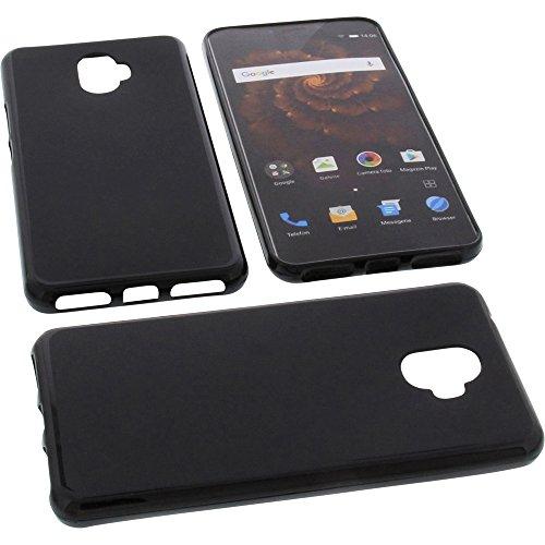 foto-kontor Tasche für Allview X4 Xtreme Gummi TPU Schutz Handytasche schwarz