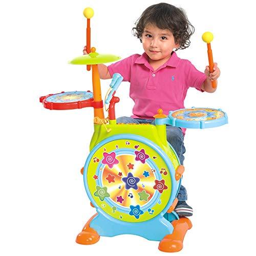Lihgfw Kinder Drum Set Drum Toy Music Drum Geeignet for Kinder über 2 Jahre alt Mit einem Mikrofon Musikinstrument Baby Anfänger Geschenk (Color : Grün)