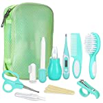 Lictin Baby Grooming Kit Newborn Care - 12PCS Baby Health Care Set Portable Baby Thermometer Kit, Safety Cutter Baby Nail Kit for Nursing Baby Girl Boys Heath and Grooming