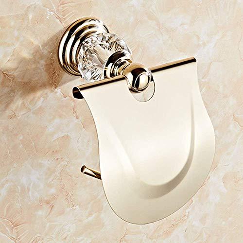CENPEN Toallero de papel de baño, color amarillo, no requiere perforación, fuerte y autoadhesivo, toallero de papel de acero inoxidable para un fácil ajuste para ahorro de espacio