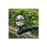 SIWJ Motocicleta Universal Moto Retrovisor Handlebar Gran Angular Convexo Espejo Ciclismo Vista Posterior 360 Gire El Espejo Motocicleta Ajustable