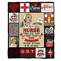 看護師への暖かい毛布、レタープリントフランネルプリントキルト、パーソナライズされたレタープリントブランケットギフト寝室生活のために,To nurse a,130*150