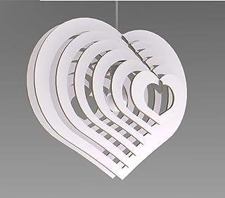 Lampadario moderno Design cuore 3D Lampada Sospensione Soffitto Arredamento