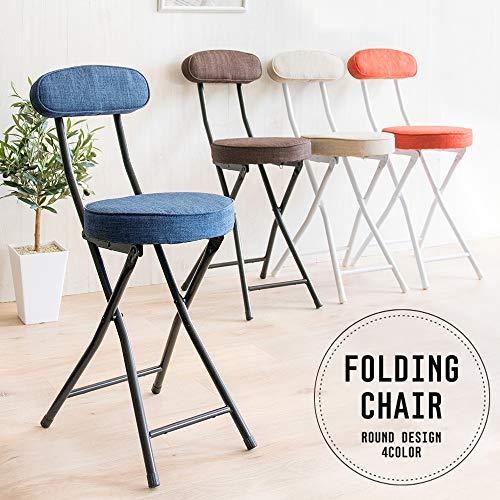 アイリスプラザチェア椅子折りたたみベージュ幅約31×奥行約45.5×高さ約76(座面高:50)㎝コンパクト軽量耐荷重80㎏YZ5081