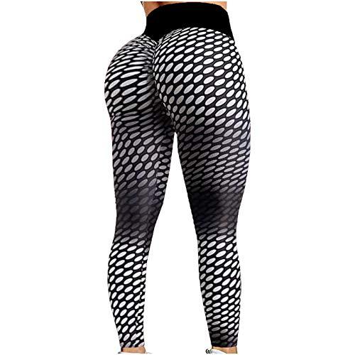 RODMA Damen Sport Strumpfhosen schlanke hohe Taille Lange Streetwear Hosen Rüschen Hintern Heben Bauch Kontrolle Bewegung undurchsichtige Yogahosen Fitnesshosen Laufhosen Laufhosen, Fahrrad, Fitness