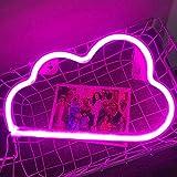 Led Wolke, Batterie oder USB Betrieben neon lichter Neon Schild, Led Niedliches Wolken Neonlicht für Schlafzimmer, Kinderzimmer, Zimmer Deko (Rosa)…