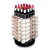 Ikee Design Acrylic Rotating 64 Lipstick Holder Organizer Spinning Lipstick Tower Holder with...