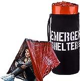 Abri d'urgence - Tente tube d'urgence - Tente de survie en Mylar réfléchissant -...