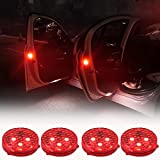 Car Door Warning Lights, Orbeor Led Open Safety Lights with Red Strobe Flashing Magnetic Waterproof Wireless...