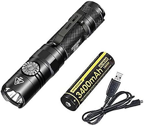 Combo  NITECORE EC22 -1000 LuPour des hommes LED Flashlumière -CREE XP-L HD V6 LED w NL1834R Battery +Libre Eco-Sensa USB Cable