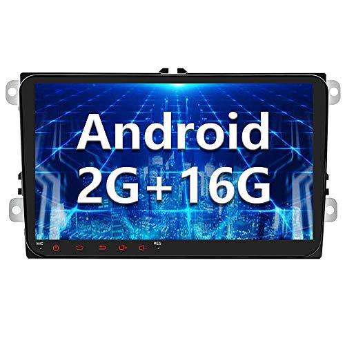 Autoradio Android pour VW 2G+16G GPS CAMECHO 9 Pouces Écran Tactile Capacitif Bluetooth Lecteur Stéréo De Voiture WiFi Récepteur Radio FM Double USB pour Golf Polo Touran Tiguan Seat Altea