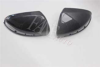 FANFAUTO Replacement Carbon Fiber Look Rear View Side Mirror Cover For Mercedes Benz W205 W213 X253 C253 S63 AMG W222