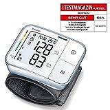 Beurer BC57 - Tensiómetro de muñeca, función Bluetooth, medición automática, detección arritmia, 2 x 60 mediciones, aplicación Health Manager, blanco