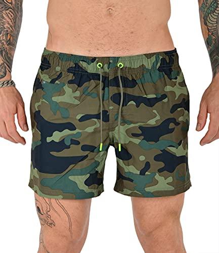 SUNDEK COSTUME M504BDP0153697 UOMO CAMOUFLAGE Verde Militare M