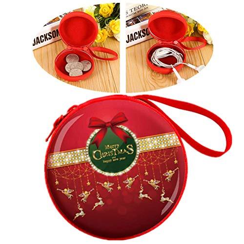 PLUS PO Billetera Cartera Mujer Portátil Monedero de la Moneda Práctico Monedero de la Moneda Monedero para decoración navideña Monedero Bonito para Chica 4